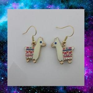 Whimsical Boho Llama Earrings